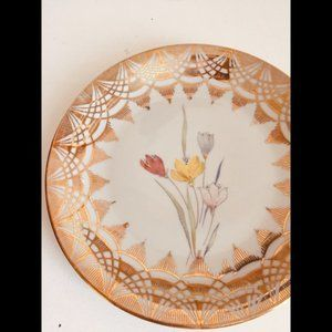 VTG Porcelain Plate Gold Floral Bavaria China